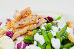 Chicken salad with green beans Stock Photos