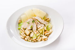 Chicken salad. With parmesan and fresh lettuce Stock Image