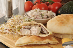Chicken salad pita sandwiches Stock Images