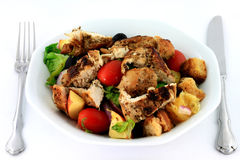 Chicken Salad in porcelain dish. Stock Image