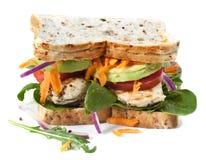 Chicken and Salad Sandwich stock photo