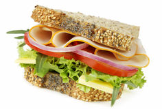 Chicken and Salad Sandwich royalty free stock image
