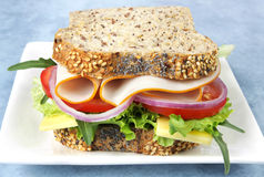 Chicken and Salad Sandwich Stock Images