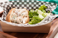 chicken salad sandwich with caesar Royalty Free Stock Image