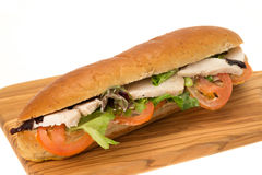 Chicken and salad sandwich Stock Photography
