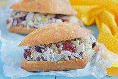 Chicken Salad Sandwich with Greek Yogurt Stock Photos