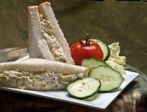 Chicken salad sandwich plate Stock Photos