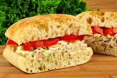 Chicken salad sandwich Stock Photos