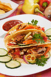Chicken salad in taco shells Royalty Free Stock Images