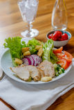 Chicken salad with tomatoes Stock Images