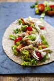 Chicken and salad tortilla Stock Photography