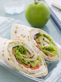 Chicken Salad Tortilla Wrap royalty free stock images