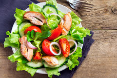 Chicken salad with vegetables Royalty Free Stock Photos