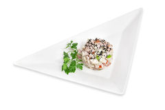 Chicken salad with vegetables Royalty Free Stock Images
