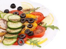 Chicken salad with vegetables and spicies. Royalty Free Stock Photos