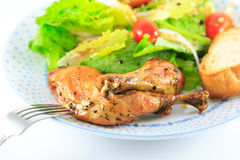 Chicken Salad. On the white background Royalty Free Stock Images