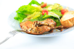Chicken Salad. On the white background Royalty Free Stock Photo