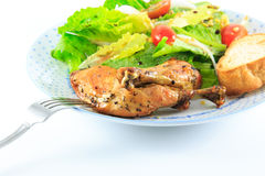 Chicken Salad. On the white background Royalty Free Stock Photos