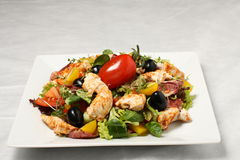 Chicken Salad With Red Tomato Royalty Free Stock Photography