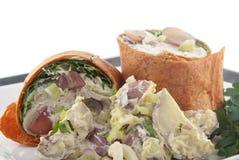 Chicken salad wrap Royalty Free Stock Photo