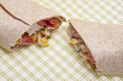Chicken Salad Wrap Background Stock Images