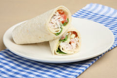 Chicken Salad Wrap Sandwich Royalty Free Stock Photo
