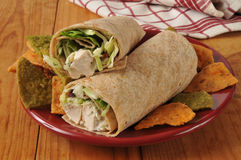 Chicken Salad Wrap Royalty Free Stock Photo