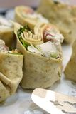 Chicken salad wraps Stock Photo