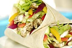 Chicken salad wraps stock image