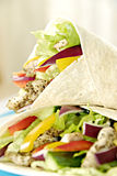 Chicken salad wraps Royalty Free Stock Photos