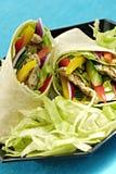 Chicken salad wraps royalty free stock photo