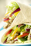 Chicken salad wraps Stock Photos