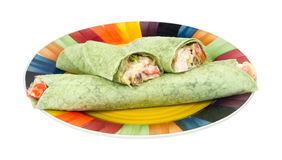 Chicken salad wraps meal Stock Photo