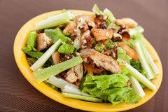 Chicken salad with zucchini Stock Images
