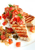 Chicken with Salsa Stock Images