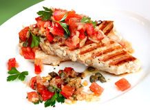 Chicken with Salsa Stock Photos