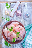 Chicken with salt and spice Royalty Free Stock Photography