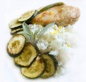 Chicken salvia and zucchini Royalty Free Stock Photo