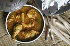 Chicken Sambar is a spicy non-veg gravy from India Royalty Free Stock Photos