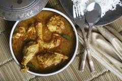 Chicken Sambar is a spicy non-veg gravy from India Royalty Free Stock Photos