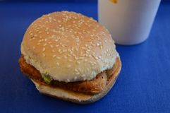 Chicken Sandwhich Closeup Royalty Free Stock Photography