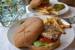 Chicken sandwich stock images