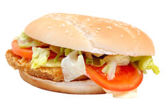 Chicken sandwich Royalty Free Stock Image