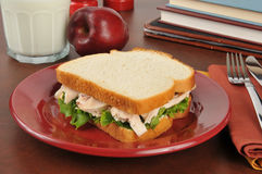 Chicken sandwich as an after school snack Stock Photography