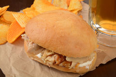Chicken sandwich Royalty Free Stock Images