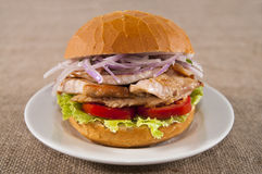 Chicken sandwich Stock Photography