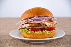 Chicken sandwich Royalty Free Stock Photos
