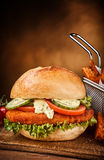 Chicken sandwich with vegetables Stock Image
