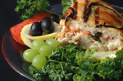 Chicken sandwich with veggies Royalty Free Stock Photo