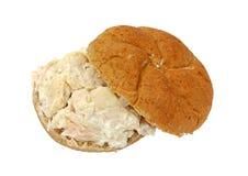 Chicken sandwich whole wheat bun Royalty Free Stock Photo